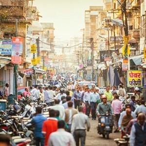 Eine Straße in Indien